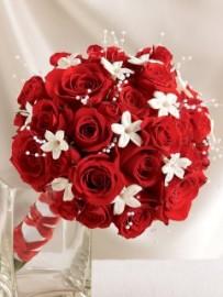 Dazzling Red Rose & Stephanotis Scented Bridal Bouquet *FOR BRIDES*