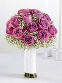 Lavender Rose & Gypsophila Bridal Bouquet *FOR BRIDESMAIDS*