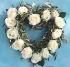 Rustic Rose Heart