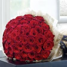 Luxury 50 Grand Prix Rose Hand- tied